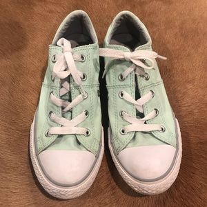 Converse low top Girls Mint green size 1
